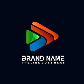 Дизайн логотипа play media