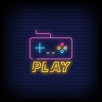 Play neon signs style text
