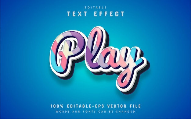 Play text, candy style text effect