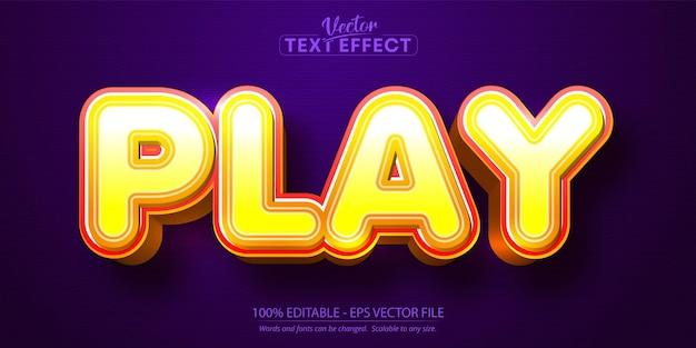 Воспроизведение текста, редактируемый текстовый эффект в мультяшном стиле