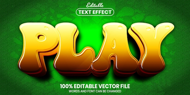 Play text, font style editable text effect