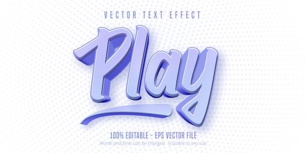 텍스트, 게임 스타일 편집 가능한 텍스트 효과 재생
