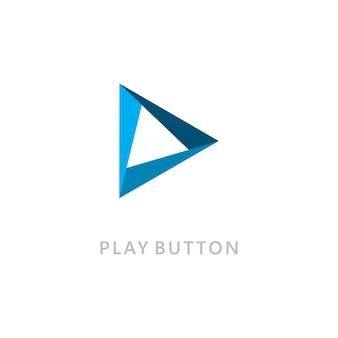 벡터 로고 아이콘을 재생합니다. 비디오 아이콘 디자인 템플릿입니다. 뮤직 플레이어