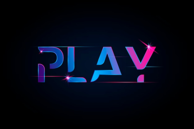 Play vibrant gradient typography