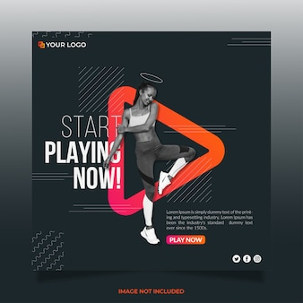 Play yoga social media banner