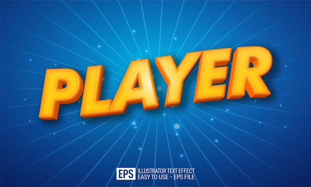 Playe 3d text editable style effect template