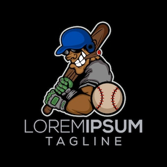 Player of baseball logo