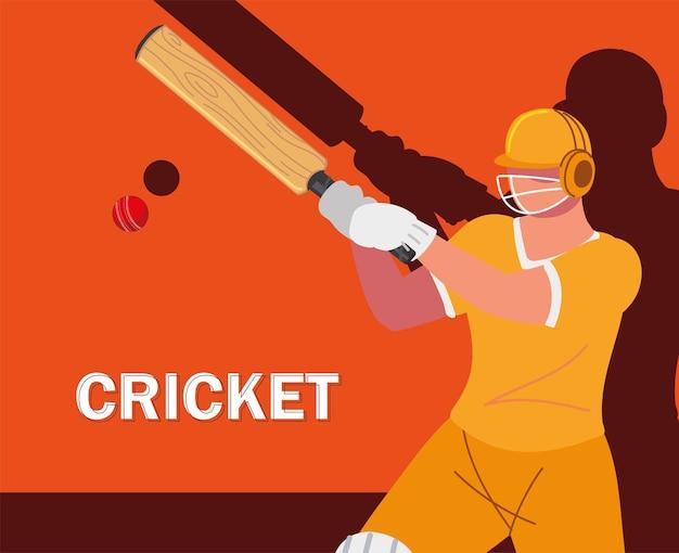 Player cricket ball bat banner