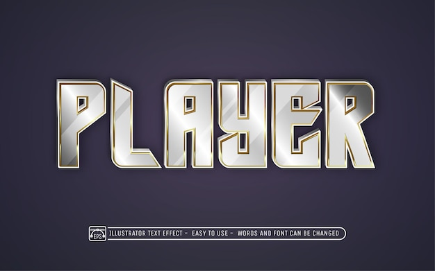 Player - editable text effect style