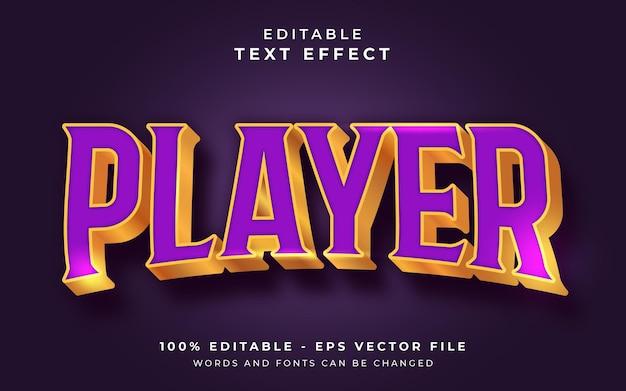 Редактируемый текстовый эффект игроком