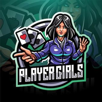플레이어 여자 esport 마스코트 로고