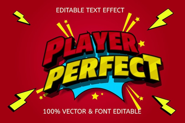 Player perfect editable text effect