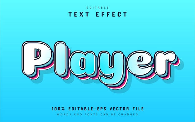 Player text, comic style text effect