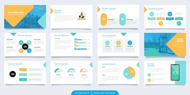 Playful business presentation template