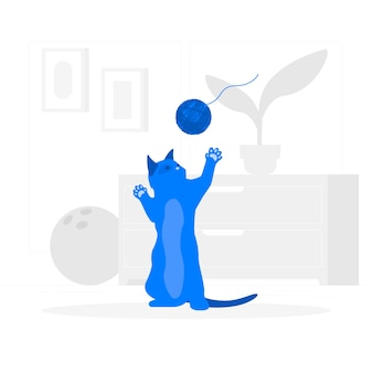 Playful cat concept illustration
