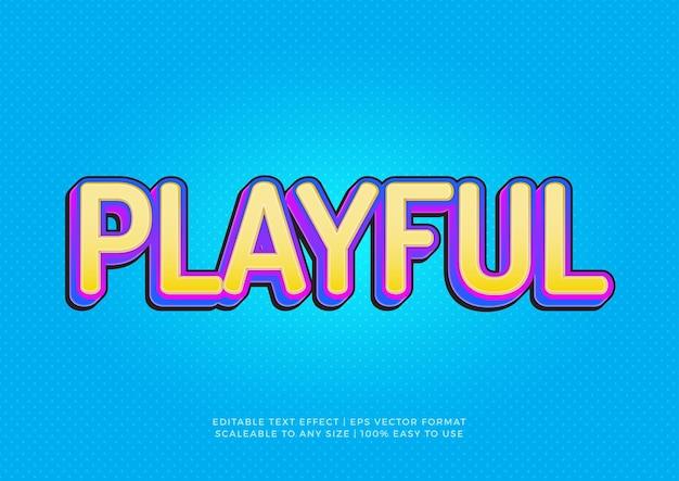 Playful fun 3d title text effect