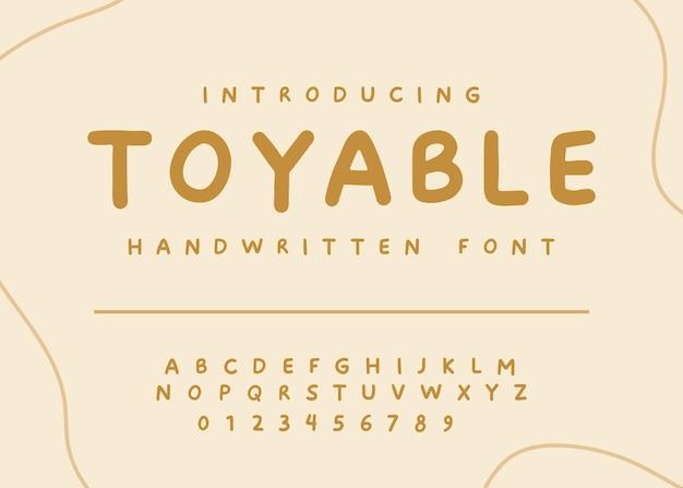 Игривый рукописный шрифт векторный дизайн