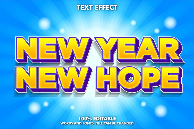 Playful modern font effect, new year quote