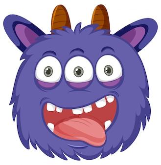 A playful monster face