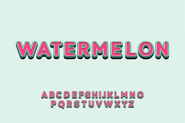 Playful retro layered font colorful display typeface alphabet set