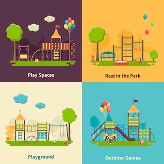 Детская площадка concept flat