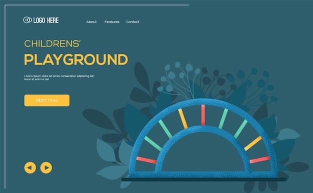Playground concept flyer, web banner, ui header, enter site. .