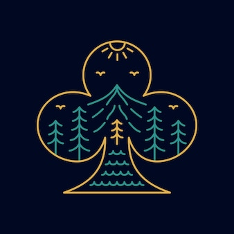 Игральные карты клуб символ природы