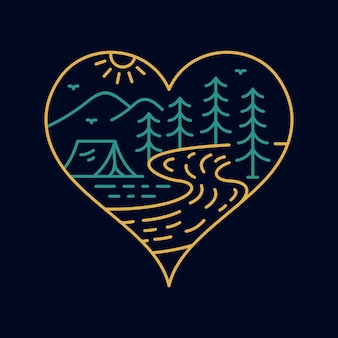 Playing card heart symbol of nature