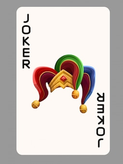 Playing card joker hat