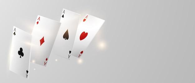 Игральная карта. выигрыш покерных фишек в казино с реалистичными токенами для азартных игр, наличными для рулетки или покера,