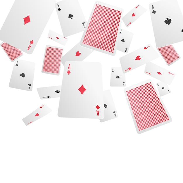 Playing cards realistic