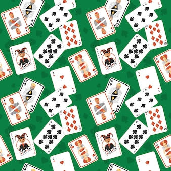 Playing cards seamless pattern