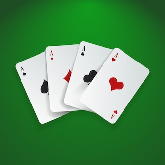 Playing cards vector illustration