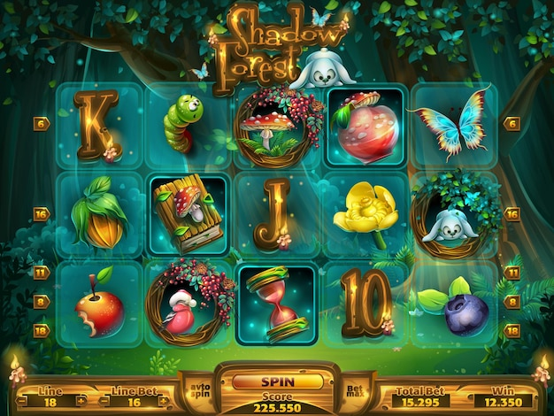 Playing field slots game for game user interface.