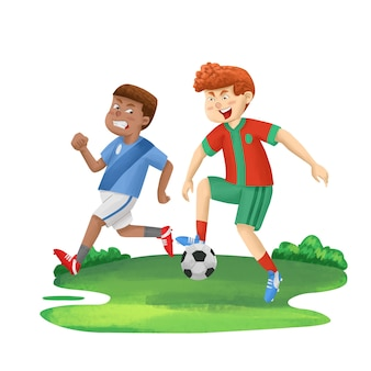 Playing foot ball