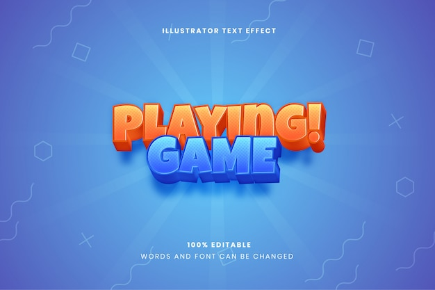 Playing game text effect