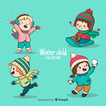 Playing kids winter collection