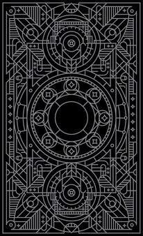 Игра мистическая карта с линиями геометрических фигур.