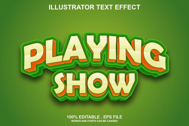 Воспроизведение шоу текстовый эффект редактируемый