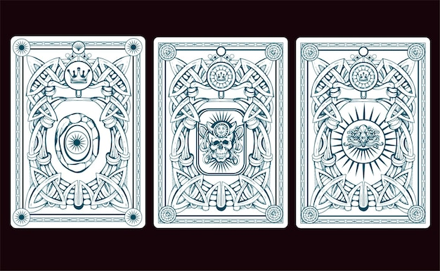 Playng card back  illustration
