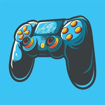 Иллюстрация искусства контроллера игровой приставки