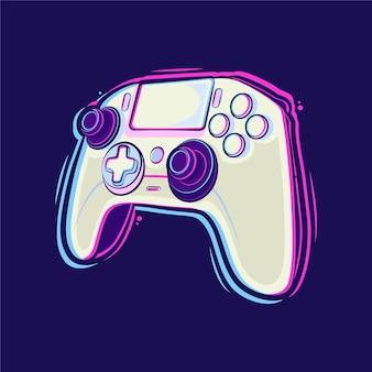 Иллюстрация шаржа контроллера playstation stick premium векторы