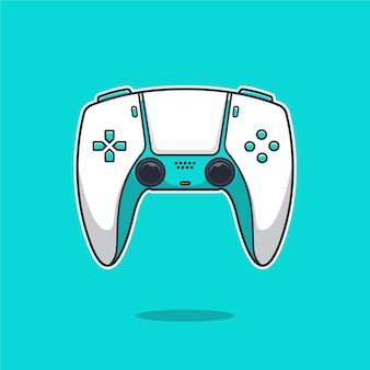 Playstation stick controller cartoon illustration