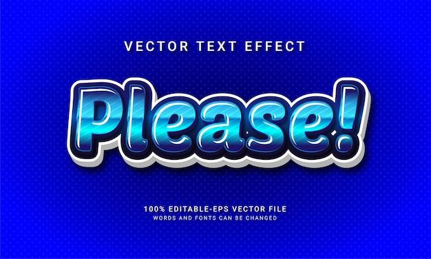 Please 3d editable text style effect