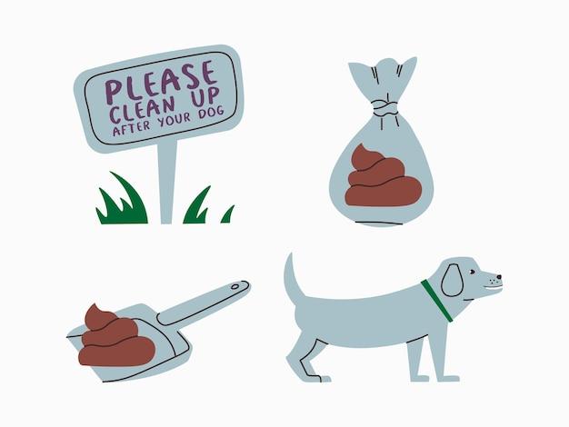 애완동물을 돌보는 것을 재촉하는 일러스트