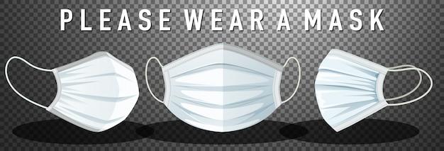 Please wear mask sign