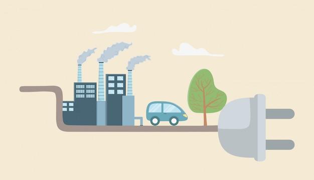 Plug and save energy elements set design
