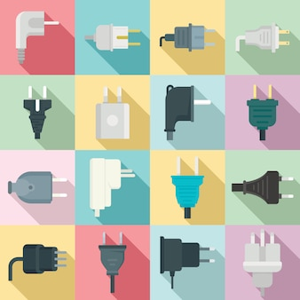Plug set, flat style