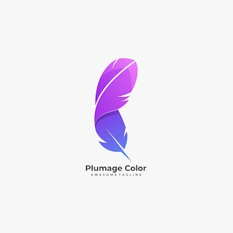 Plumage color illustration   logo.