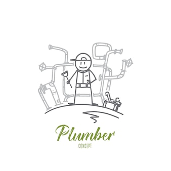 Plumber concept illustration